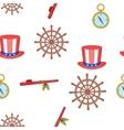 Columbus Day pattern cartoon style vector image
