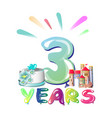 balloons on the third anniversary vector image