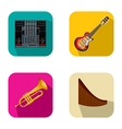 Music and party icons 4 vector image