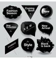 Fashion sale speech bubbles set vector image vector image