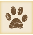 Grungy paw print icon vector image
