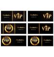 VIP Members Card Set vector image