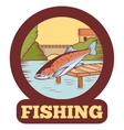 Trout fishing banner vector image