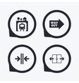 Underground icon Automatic door symbol vector image