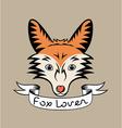 Fox lover vector image