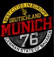 munichgermanystylish graphics design for vector image