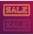 Sale glowing neon sign vector image
