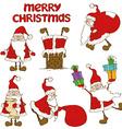 Set of Santa Claus icons vector image