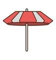 umbrella parasol beach travel icon vector image