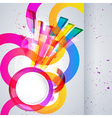 Abstract background with design elements vector image vector image
