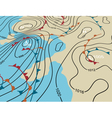 Weather system map vector image