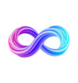 3d infinity symbol colorful infinity icon vector image