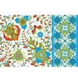 Set of elegance seamless pattern with floral vector image