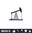 Oil Rig icon flat vector image
