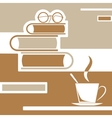 reading books with coffee vector image