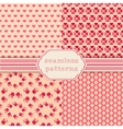 Romantic seamless patterns Cover for vector image