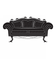 Vintage Gothic style sofa furniture vector image