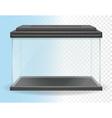 transparent aquarium 01 vector image vector image