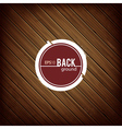 Circle banner on wood background vector image vector image