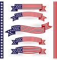 American ribbons vector image