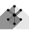 molecule sign black icon vector image