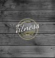 Fitness club badges logos and labels for any use vector image