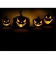 Grinning Halloween lantern vector image