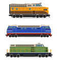 set icons lokomotiv 01 vector image