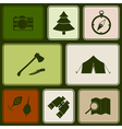 Seamless pattern with camping icons vector image