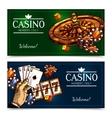 Sketch Casino Horizontal Banners vector image