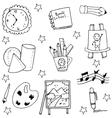 Back to school doodles set vector image