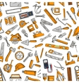 Building tool and equipment seamless pattern vector image