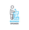 business speaker concept outline icon linear vector image