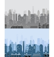 City skyline banners in trendy style vector image