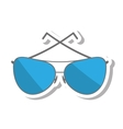glasses modern style isolated icon vector image