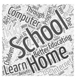 Home Schooling and Computer Learning Word Cloud vector image