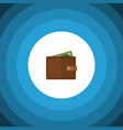 isolated wallet flat icon billfold element vector image