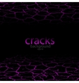 Perspective background with cracked surface vector image