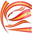 spain flag set vector image
