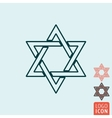 Star of David icon isolated vector image
