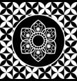 thai flower art design vector image