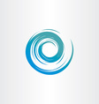 Tornado blue water wave spiral circle background vector image