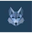 Wolf polygon head blue gray colors design style vector image