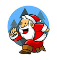 Happy Run Santa vector image