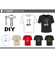 t shirt design with hammer and nail vector image