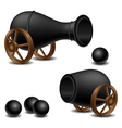 Cannon set vector image vector image