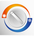 switch the air conditioner vector image