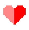 Pixel art heart love color icon valentine vector image