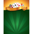 casino vertical background vector image