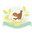 Easter background bird in nest vector image vector image